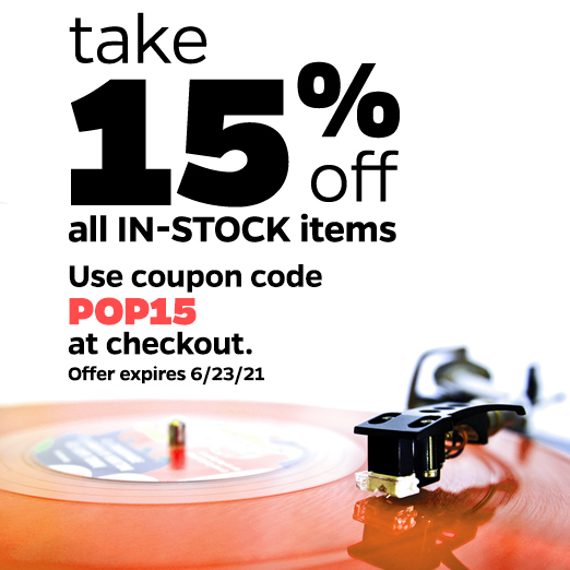 Save 15% On All In-stock Items
