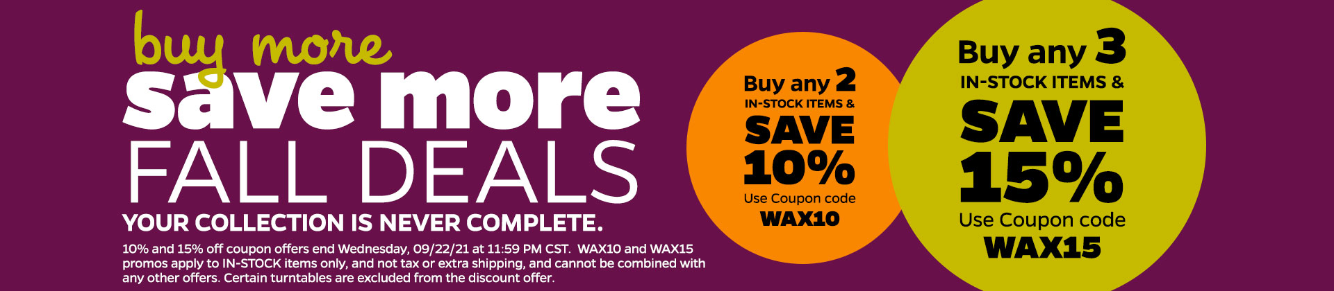Buy More Save More Deals