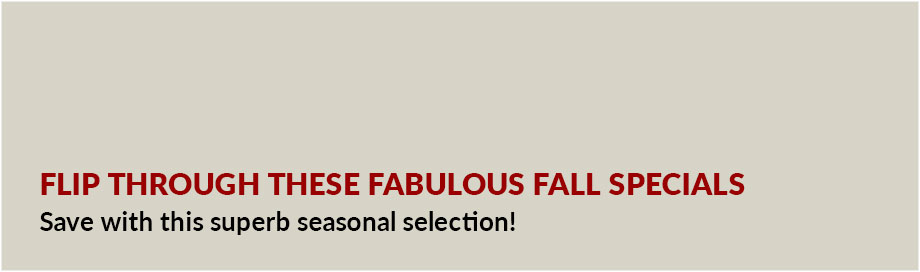Fabulous Fall Specials