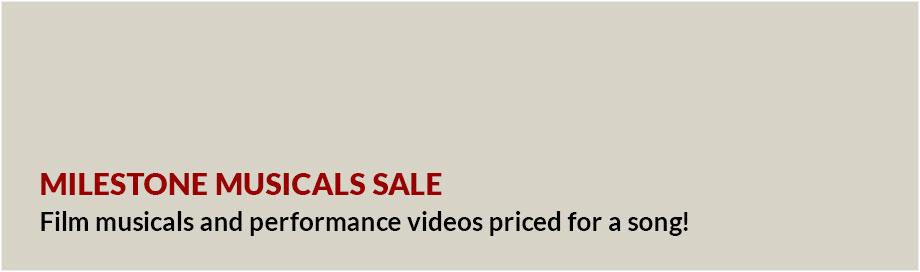 Milestone Musicals Sale