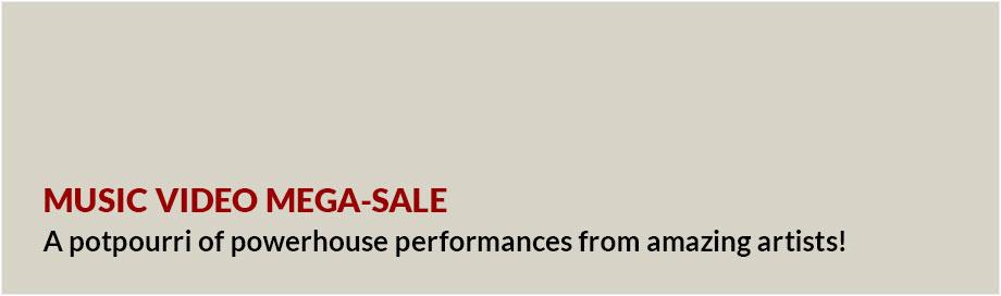 Music Video Mega-Sale